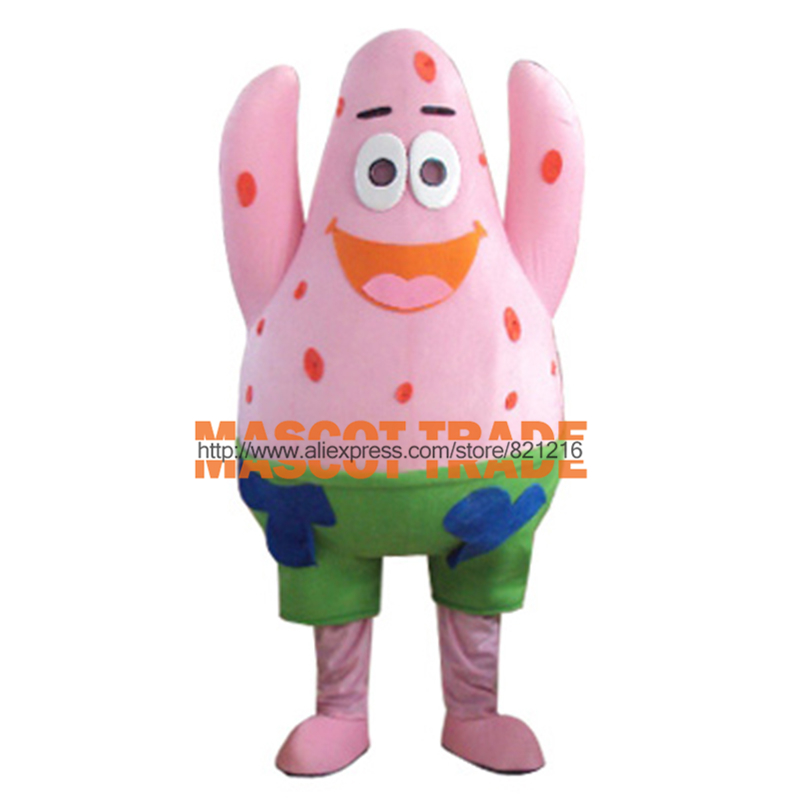 New arrival 2014 Cartoon Character Adult big Patrick Star Mascot Costume Fancy Costumes for Halloween