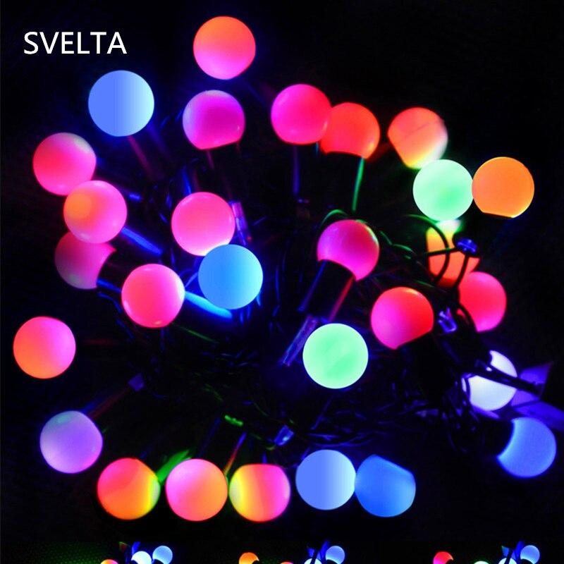 SVELTA 7 м 28LED шаровые Фея огни строки Gerlyanda гирлянда Новогодняя гирлянда света на праздник Рождество Свадебная вечеринка Decoracion