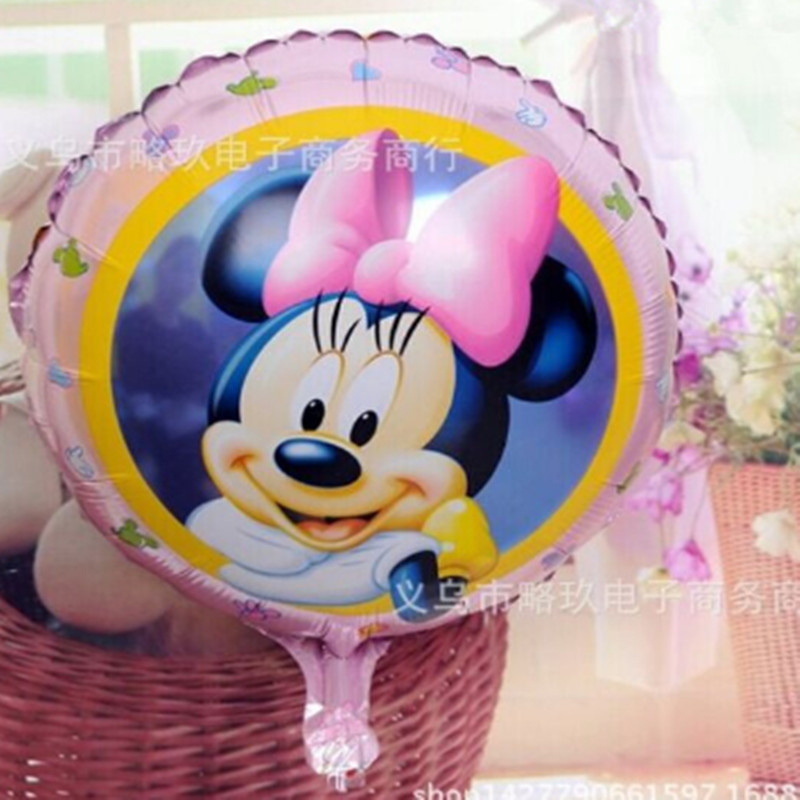50pcs/lot Girl Mouse Foil Yellow  Balloons Birthday Balloons Gift Party Supply 45*45cm Wholesale