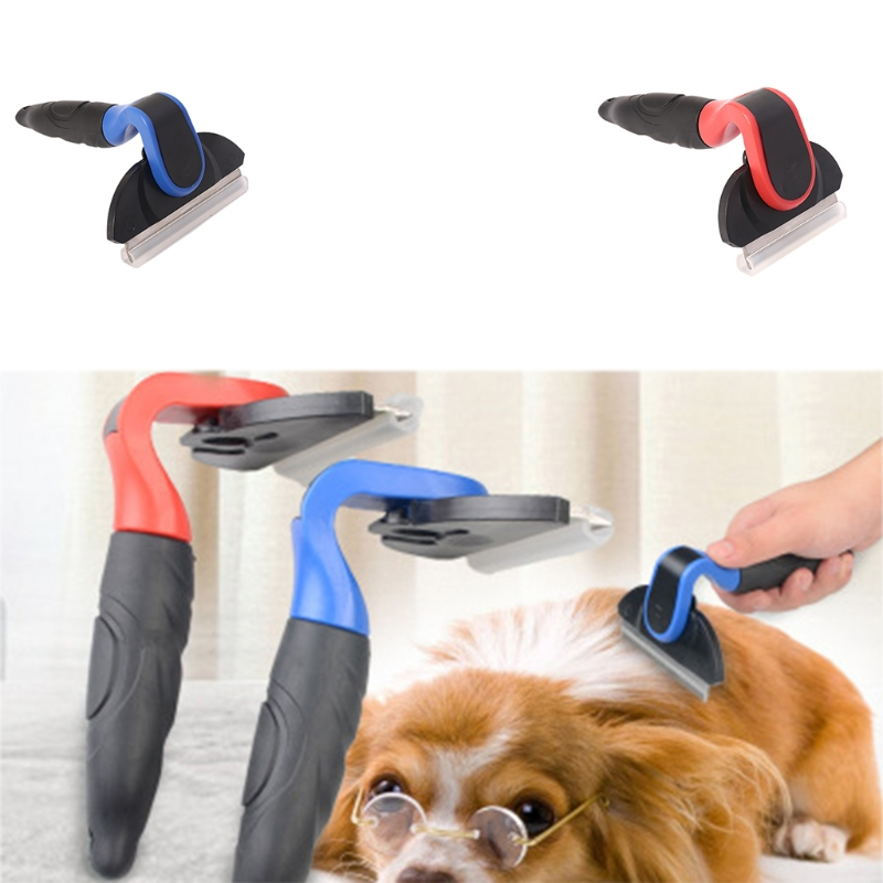 Detachable Pet Hair Slicker Comb Dogs Comb Furmins Cat Dematting Clipper Grooming Tool Short Medium long Hair Shedding Brush-m20