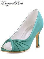 Woman Wedding Bridal Shoes HP1562 High Heel Ivory Navy Blue pink lady Women's Prom Evening Party Dress Pumps Teal