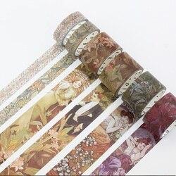 Retro Muscia Epic Serie Washi Klebeband Masking Klebeband für DIY Handwerk, Kinder Kunst Projekte, Sammelalbum, Journal, planer, Geschenk Verpackung