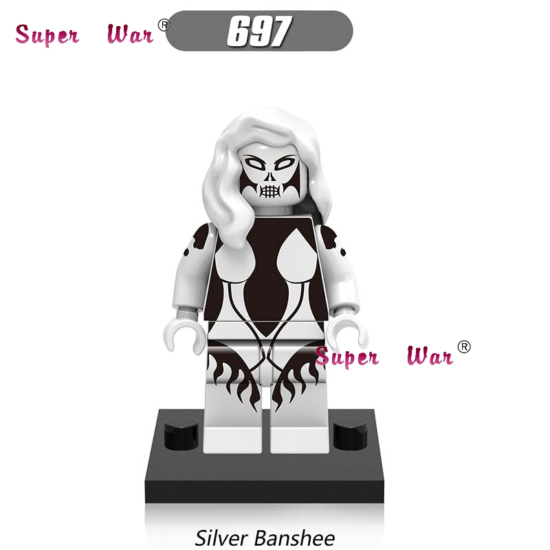 50pcs super heroes marvel dc comics model superman Silver Banshee building blocks bricks friends hobby toys