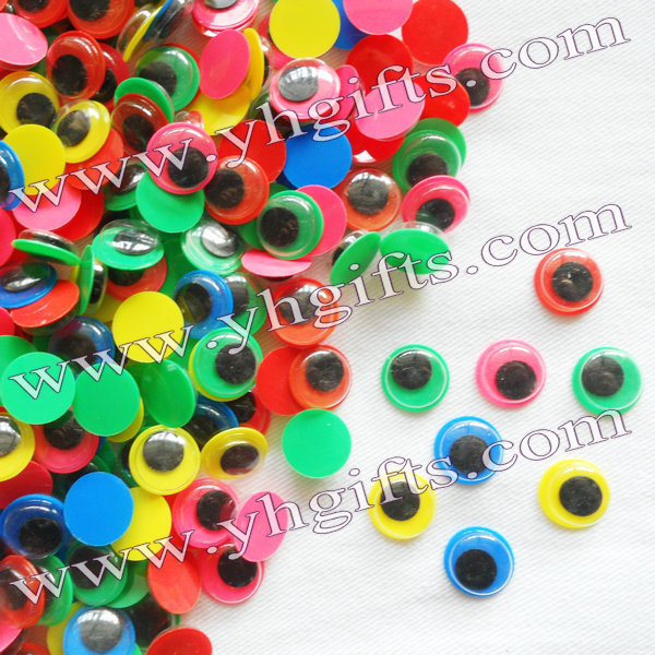 1000PCS/LOT.1.2cm colorful eyeball,Colorful board wiggle eye,Movable eye,Doll eyes,Craft ...