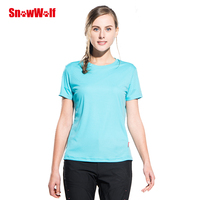SNOWWOLF Outdoor Quick Dry UV Protection Skin T Shirt Breathable Stretch Women Sport Shirt,For Gym Running Exercises Yoga Tops