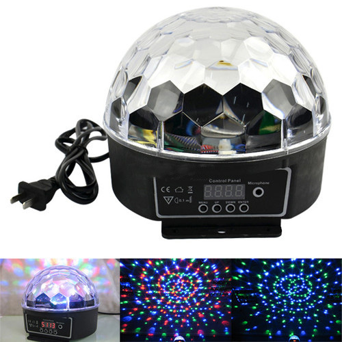 DMX512 Control Pannel 18W DJ Stage Lighting LED RGB Crystal Magic Ball Effect Light Sound Control Display KTV Laser Lights mini rgb led party disco club dj light crystal magic ball effect stage lighting