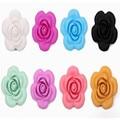 10 ШТ. Кремния Цветок бисер пищевой Кулон для прорезывания зубов ожерелье DIY loose бусы подвески