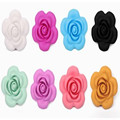 10PCS Silicon Flower beads Food grade Pendant for teething necklace DIY loose beads pendants