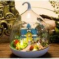 """Casa de Muñecas Muebles de Casa de Muñecas en miniatura De Madera 3D Rompecabezas De Madera Kits de Montaje De Juguetes para Los Niños, """"Jardín Romántico"""" Muñecas casa"""