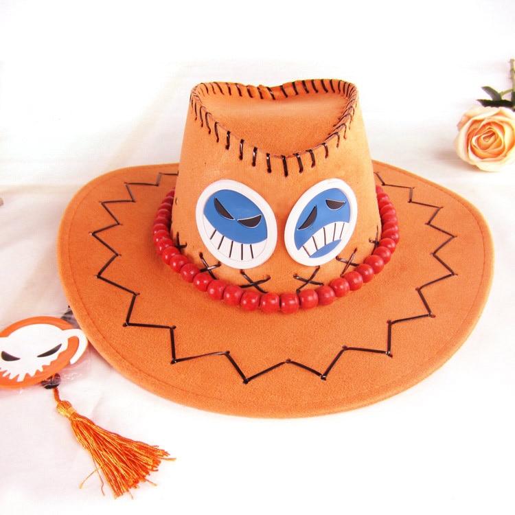 Anime One Piece Portgas. D. Ace Cosplay Hut Cowboy Hut Mit Knochen Schädel  Spielzeug a23d2f8eb26