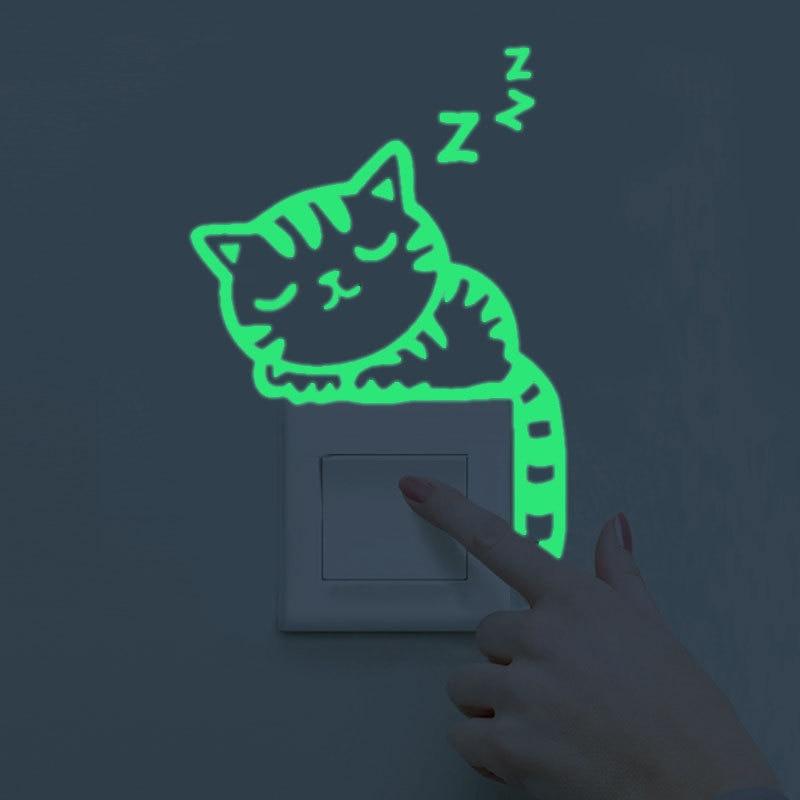 Maruoxuan Luminosa Decoración Del Hogar de Diy Divertido Animales Lindo Etiqueta