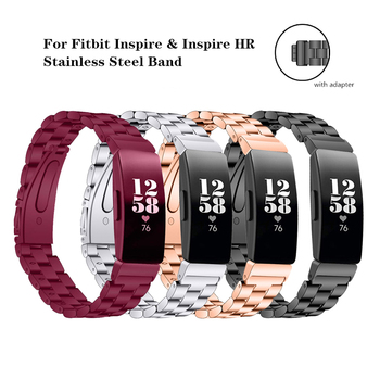 Stainless Steel Metal Wrist Strap for Fitbit Inspire HR Watch Replacement Bands Bracelet for Fitbit Inspire Smart Accessories