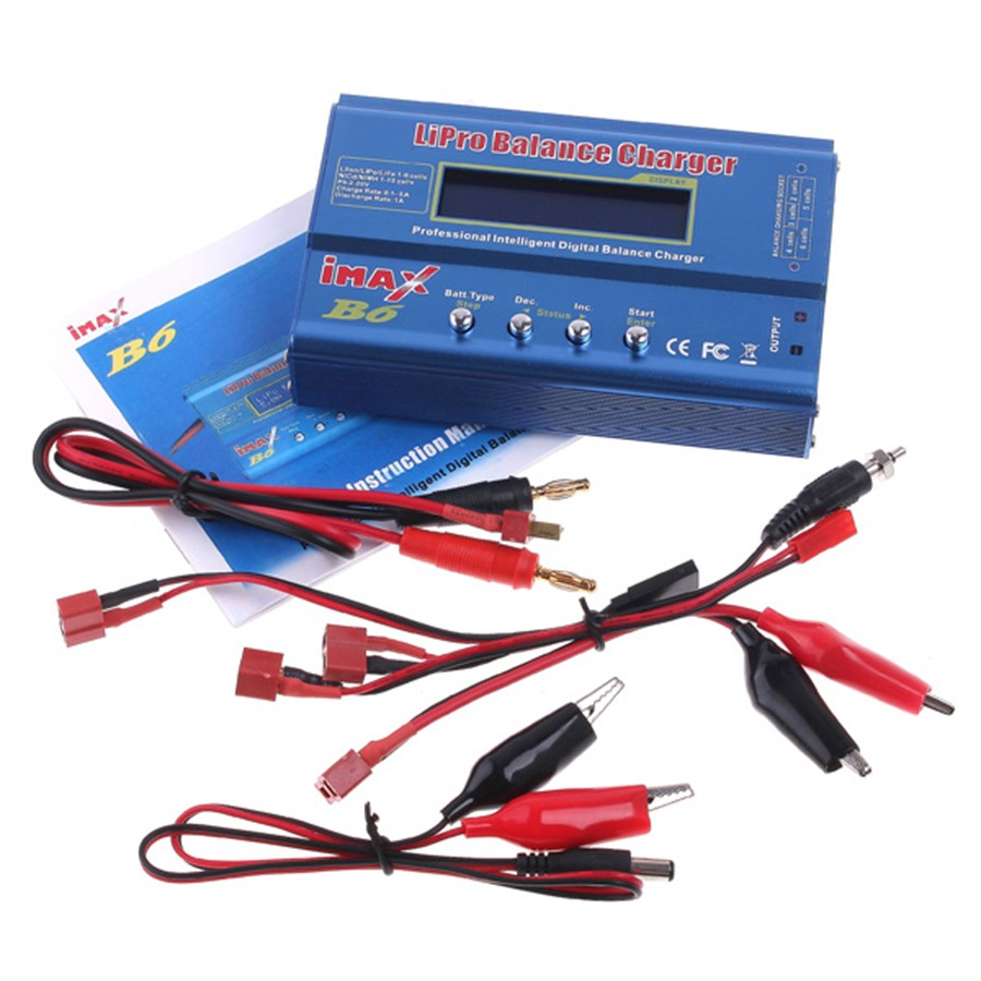 Imax B6 80W Mini Lipro NiMh Li-ion Ni-Cd RC Battery Balance Digital Charger Discharger With T Or Tamiya Plug