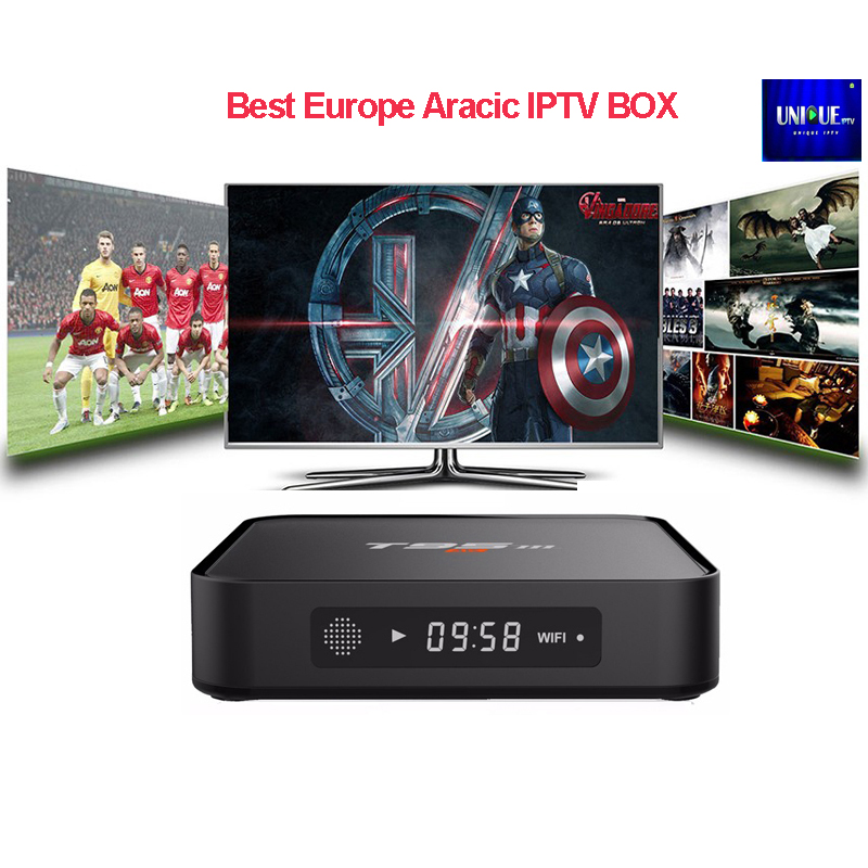 1 Year Arabic Europe French IPTV Subscription T95M Amlogic S905X Quad Core Set Top Box With Unique Abonnement Iptv account Code hot x96 tv box 2gb 16gb s905x quad core 2 4ghz wifi hdmi smart set top box with iudtv iptv abonnement french arabic iptv top box