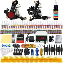 Solong Tattoo Complete Tattoo Kit 2 Machine Gun 54 Ink Needle Power Supply  space pen