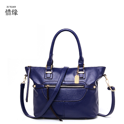 New Autumn spring Large Women Leather Handbag PU Retro big Bag Crossbody Bag Ladies Handbag Tote Large Female Clutch Bolsa blue 2017 luxury brand women handbag oil wax leather vintage casual tote large capacity shoulder bag big ladies messenger bag bolsa
