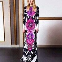 2014 Autumn Women S New Dress Newest Popper Print Long Dress Mopping The Floor Dress