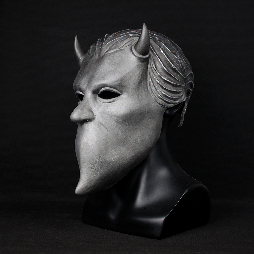 Ghost Nameless Ghouls Mask Cosplay Ghost B.C Heavy Metal Doom Hard Rock Roll Band Latex Helmet Masks Halloween Party Props4