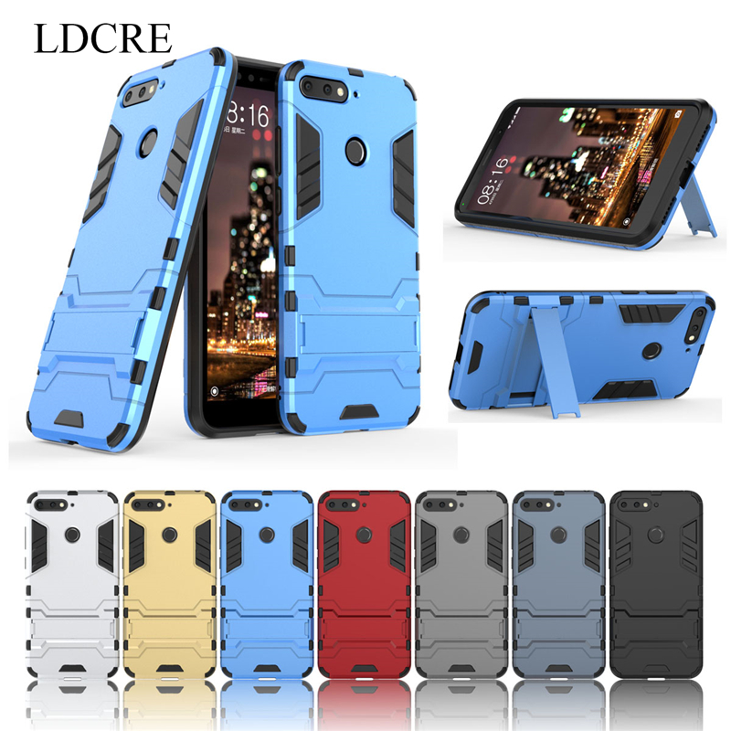 For Huawei Honor 7A Case LDCRE Hard Back Rubber Phone Cover Case for Huawei Y6 2018 Cover For Honor 7A Pro Phone Bag Case Coque in Fitted Cases from Cellphones Telecommunications