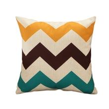 ФОТО rubi 45cm square yellow cushion cover cotton home decor sofa car seat decorative throw pillow cover hot sale good quality