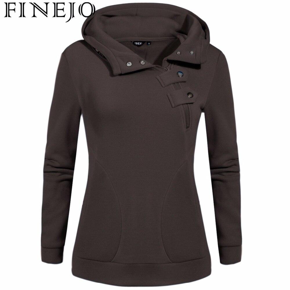 FINEJO Autumn Women Hoodies Printing Sweatshirts Long Sleeve Casual Warm Pullovers M-3XL Plus Size Women Zipper Coats