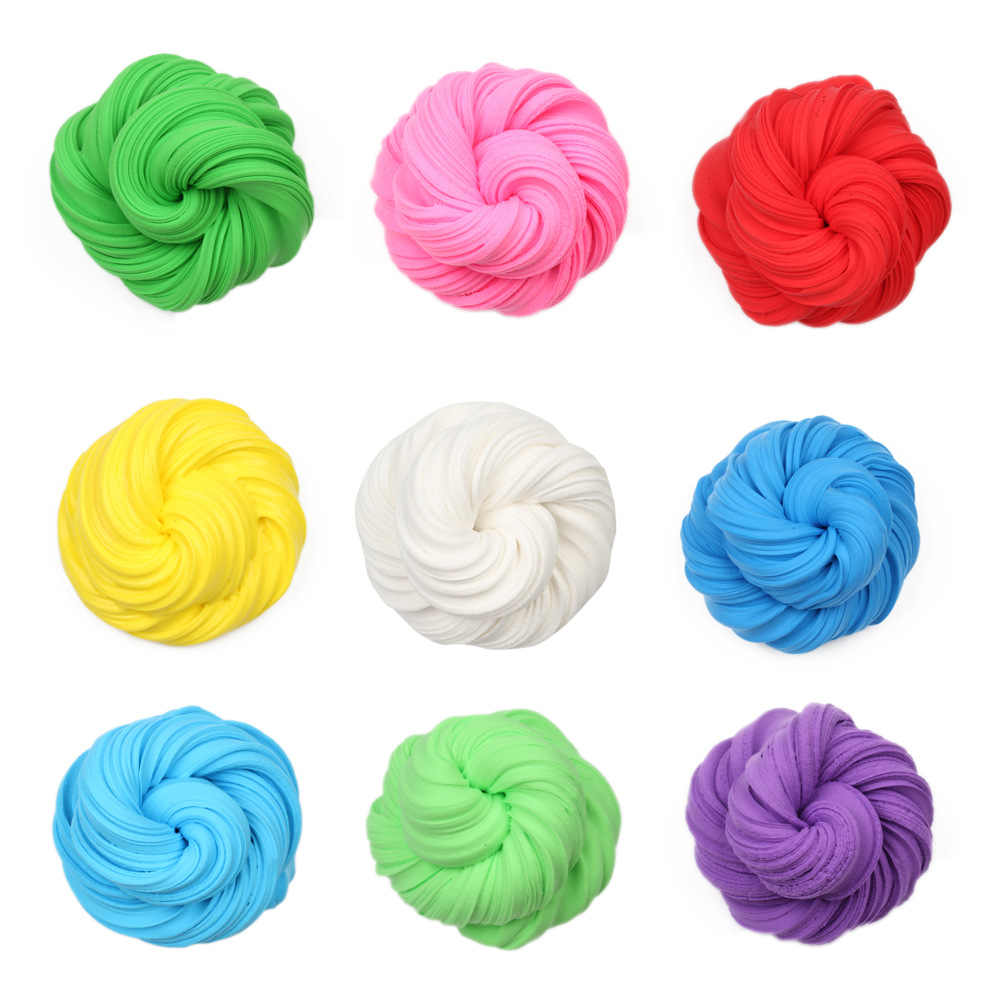 3D Fluffy Foam Clay Slime DIY Soft Cotton Slime Ball Kit Air Dry Clay Lizun Charms Light Plasticine No Stress Kids Toys