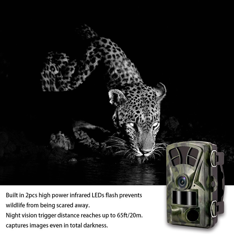 2018 New Trail Camera 16MP 1080P Wild Game Hunting 65ft 20m Infrared Scouting Camera with IR LEDs Night Vision Time Waterproof ip56 waterproof hunting camera night vision 16mp 1080p digital infrared game hunting trail camera hunter cam 2 4 lcd screen