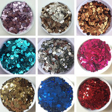 3mm 4mm 5mm 6mm Sparkles Flat Sequin Round Loose Blue Sequins for Crafts Paillette Sewing Garment Bags Shoes DIY Accessories(China)
