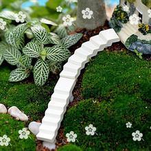 2 шт миниатюрные зеленые деревья с белым цветком, сказочные Садовые принадлежности украшения для террариума