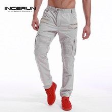 INCERUN Men's Army Military Cargo Pants 2017 Casual Leisure Joggers Chino Trousers Slim Fit Men Male Sweatpants Slacks Plus Size