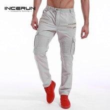 INCERUN Mens Army Military Cargo Pants 2017 Casual Leisure Joggers Trousers Slim Fit Men Male Sweatpants Slacks