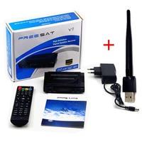 DVB S2 Freesat Satellite TV Receiver Decoder Freesat V7 HD USB Wfi With 7 Lines Europe