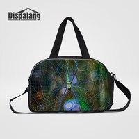 Dispalang Colorful Spider Animal Printing Men Fashion Travel Duffle Bags Canvas Shoulder Bag For Teenage Boys Sporty Weekend Bag