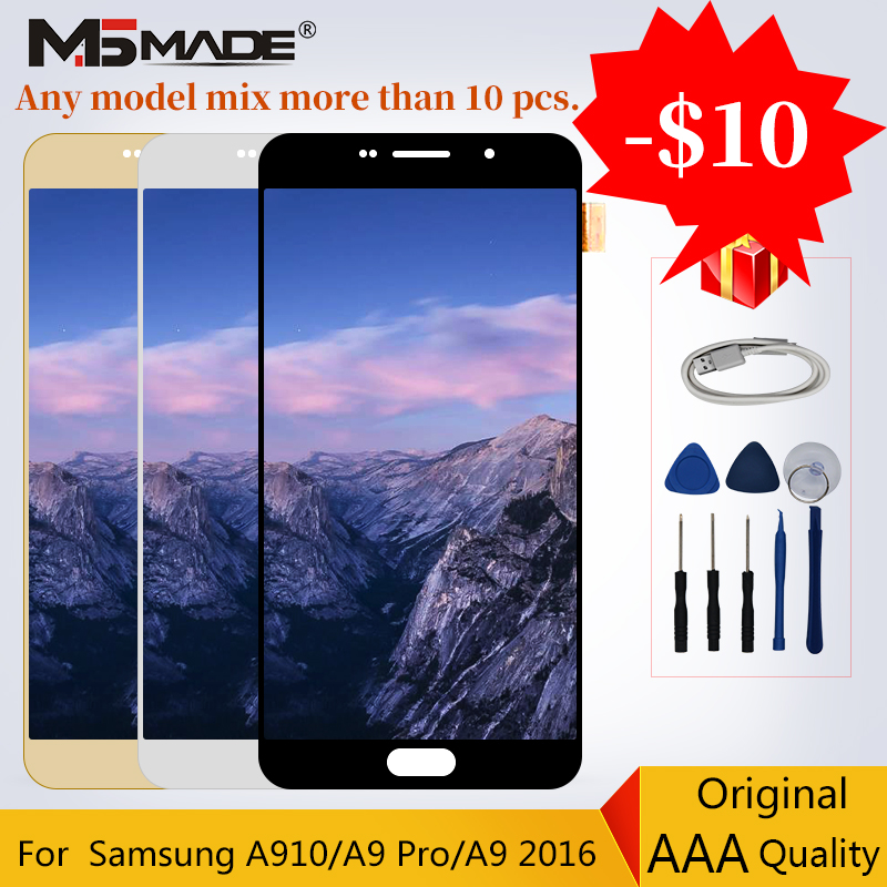 100% Original For Samsung Galaxy A9 2016 A910 LCD Touch Sreen Digitizer Display Replacement A9 Pro A9100 Assembly Parts Free100% Original For Samsung Galaxy A9 2016 A910 LCD Touch Sreen Digitizer Display Replacement A9 Pro A9100 Assembly Parts Free