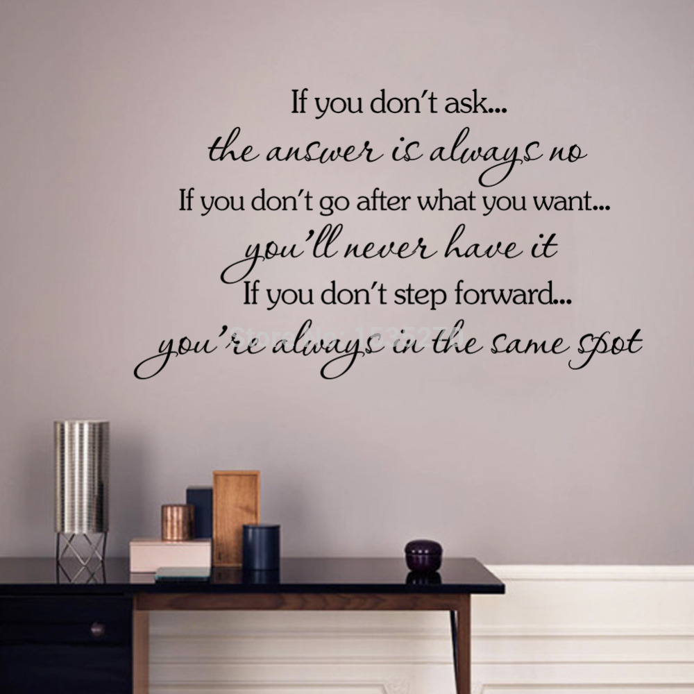 Inspirational Quotes Wall Stickers Decal Home Decor If You Don T Go After Want Will Never Have It In From Garden On