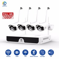 JOOAN Wireless Security Camera System 4CH CCTV NVR 1080P WIFI Outdoor Night Vision Network Camera Video Surveillance Kits