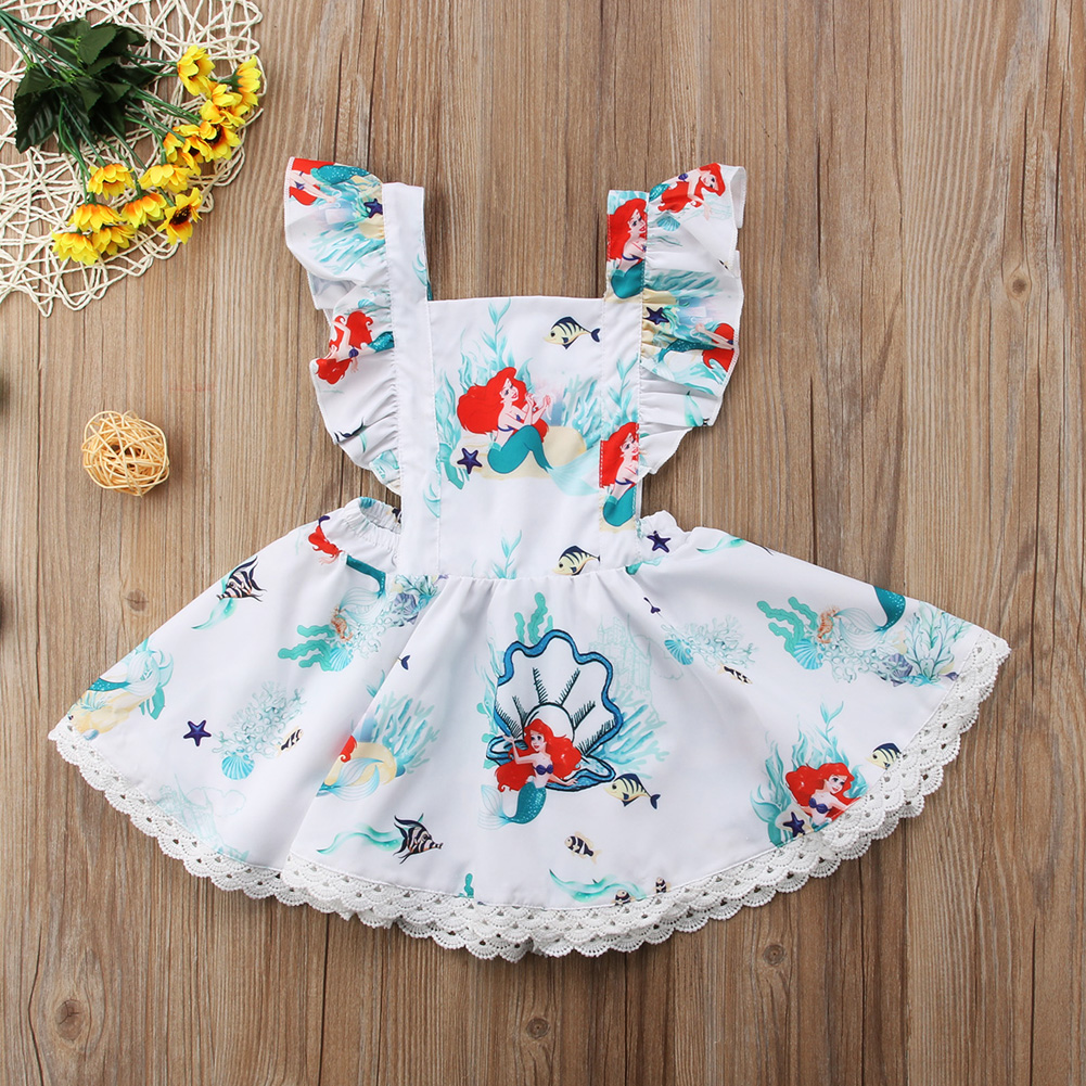 a5815263 Pudcoco Summer Toddler Baby Kids Girls Dresses Mermaid Backless ...