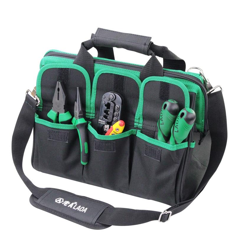 1 vnt LAOA 600D įrankių krepšys Elektrikas Didelės talpos remonto - Įrankių laikymas - Nuotrauka 5