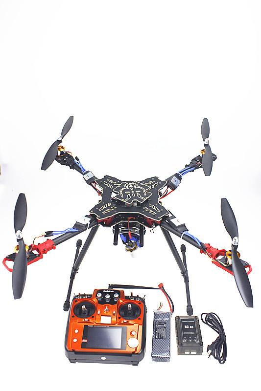 F11066-D  Foldable Rack Quadcopter RTF AT10 Transmitter QQ Flight Control Motor ESC Propeller Camera PTZ Battery Charger f02015 d 4 axis foldable rack rc quadcopter kit with qq super flight control 1000kv brushless motor 10x4 7 propeller 30a esc