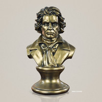The Piani Composer Statue Musician Ludwig Van Beethoven Bust Conductor Half Length Photo Or Portrait GK Action Model Toy J588