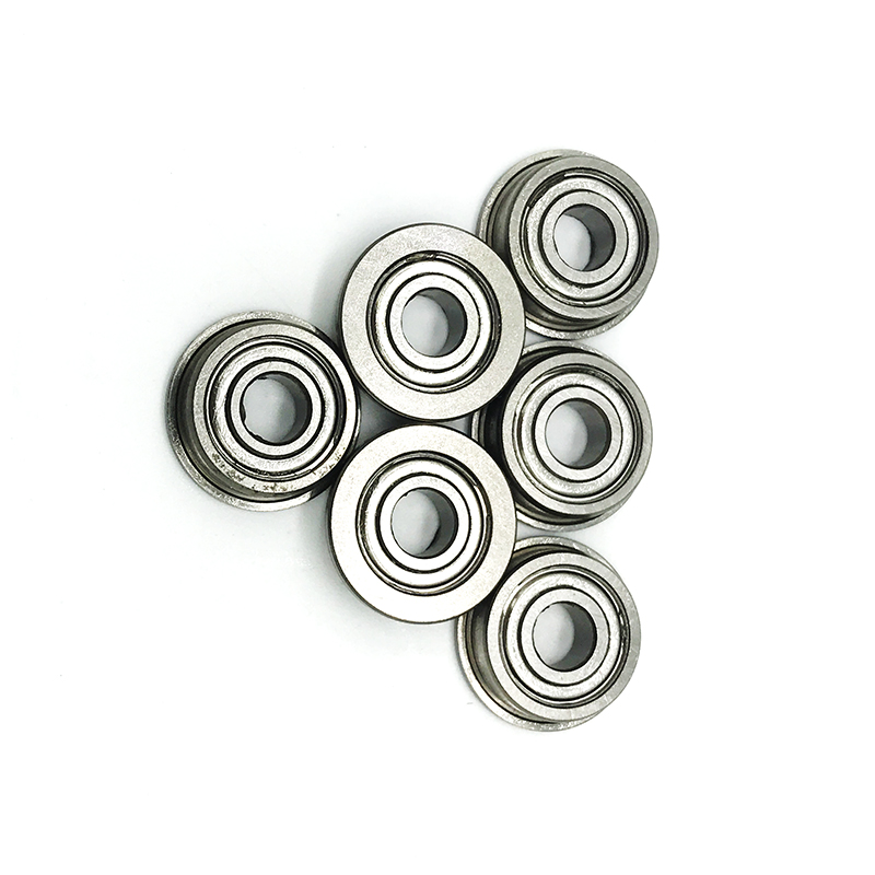Free Shipping 50 PCS SF695ZZ Flanged Bearings 5x13x4 mm Stainless Steel Flange Ball Bearings DDRF 1350ZZ