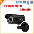 Горячие Продажи 36 Шт. Led Безопасности, Камеры Высокого Качества Цвет 700TVL CCTV Камеры в течение Всего дня Видения Влагозащищенные Камеры CMOS камера