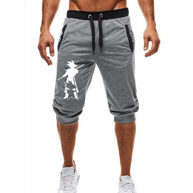 Pantalones cortos de Dragon Ball para hombre, Shorts informales de dibujos animados de Anime japonés, ropa de Wukong, novedad de 2019