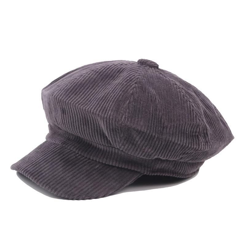 COKK Newsboy Kap Bere Kadın Sonbahar Kış Şapka Kadın Erkek - Elbise aksesuarları - Fotoğraf 6