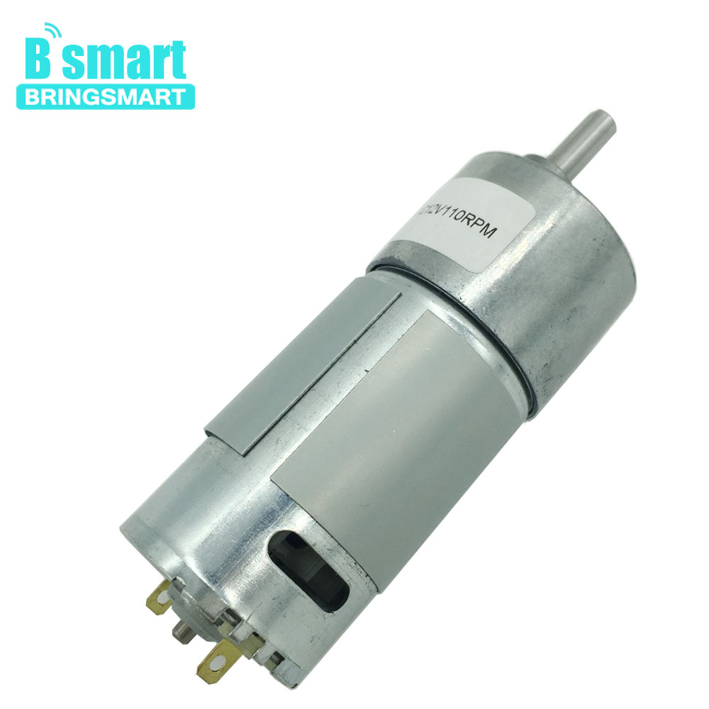 Bringsmart JGB37-550 Gear Motor DC 12V Electric Motor High Torque Mini Motor 6V Reversible Reductor for DIY Intelligent Car все цены