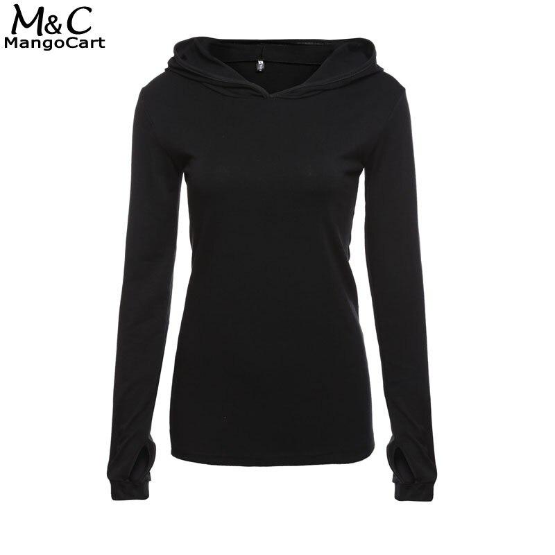 2017 Women Hoodies Sweatshirt Long Sleeve Black Casual Harajuku Pocket Design Winter Hoodie For Women Pullovers Sudaderas Mujer