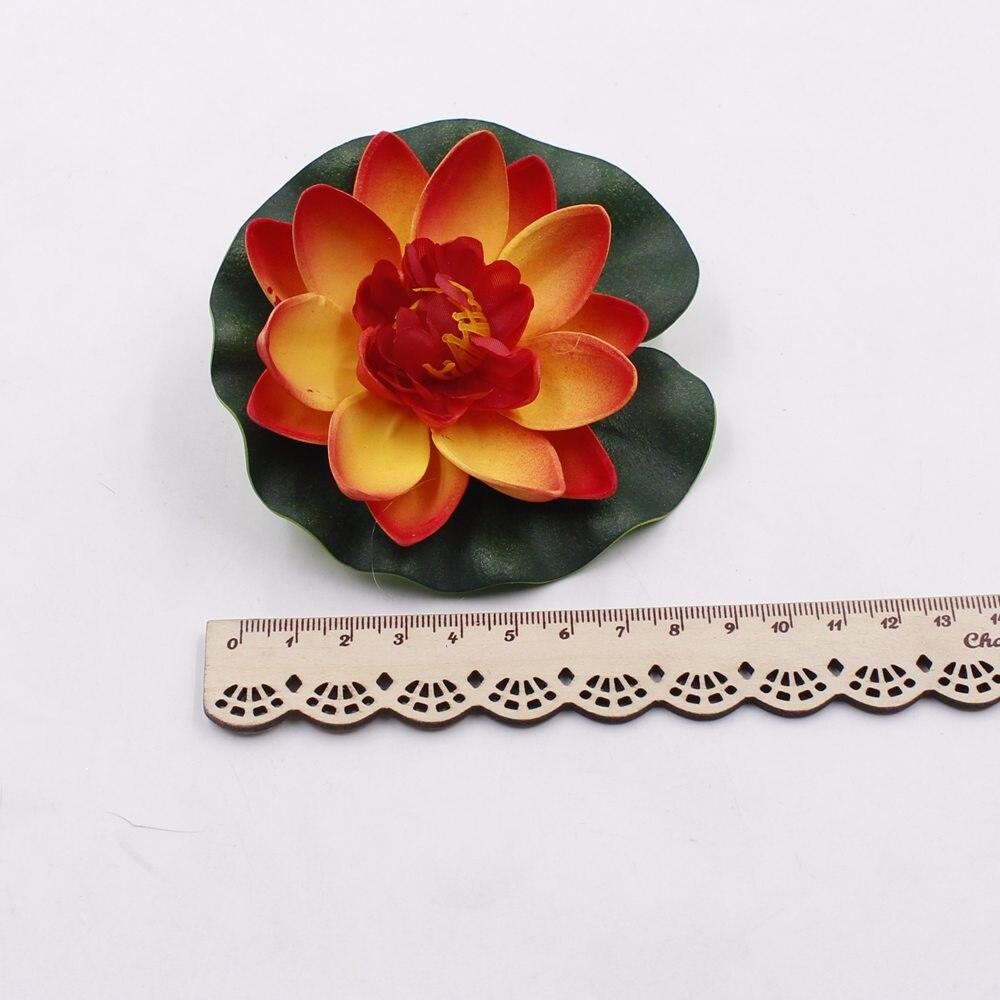 10pcslot 10cm Real Touch Artificial Lotus Flower Foam Lotus Flowers