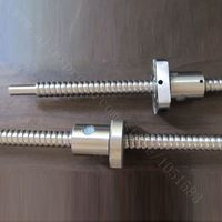 SFU01204 Z Axis High Precision T12 Ball Lead Screw With Nut, T8 Smooth Ends, Total Length 500mm for 3D Printer, CNC