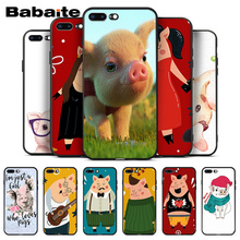 Babaite For coque iphone 8 plus pig Phone Cases Soft Silicone Capa For Apple iPhone 8 7 6 6S Plus X XS MAX 5 5S SE XR Cover babaite cartoon air plane soft silicone transparent phone case for apple iphone 8 7 6 6s plus x xs max 5 5s se xr cover