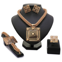 Mary New Arrival Rose Gold Plated Jewelry Set Fashion Costume Parure Bijoux Femme Plaque Or Dubai